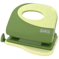 """Дырокол Index """"Fusion"""", цвет: зеленый. IFP705 IFP705GN/YL"""