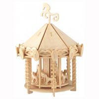 Сборная деревянная модель Карусель3130Сборная деревянная модель Карусель позволит вашему ребенку собрать объемную деревянную конструкцию в виде всеми любимого развлечения - карусели. Модель для сборки развивает мелкую моторику, интеллектуальные способности, воображение и конструктивное мышление, тренирует терпение и усидчивость.