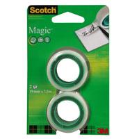 """3M Клейкая лента """"Scotch Magic"""", матовая, 2 шт 8-1975R2"""