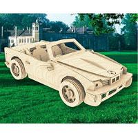 Сборная деревянная модель КабриолетП067Сборная деревянная модель Кабриолет позволит вам и вашему ребенку собрать объемную деревянную конструкцию в виде кабриолета. Модель для сборки развивает мелкую моторику, интеллектуальные способности, воображение и конструктивное мышление, тренирует терпение и усидчивость. Модель выполнена из экологически чистой древесины.