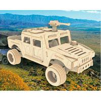 Сборная деревянная модель ХаммерП063Сборная деревянная модель Хаммер позволит вам и вашему ребенку собрать объемную деревянную конструкцию в виде автомобиля марки Hummer. Модель для сборки развивает мелкую моторику, интеллектуальные способности, воображение и конструктивное мышление, тренирует терпение и усидчивость. Модель выполнена из экологически чистой древесины.