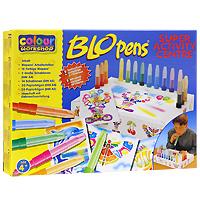 Набор для рисования Blopens Super Activity0691539008102Набор для рисования Blopens Super Activity привлечет внимание вашего малыша и не позволит ему скучать! С этим набором малыш сможет создавать разнообразные рисунки и узоры так, как ему подскажет фантазия. Набор состоит из 15 цветных фломастеров блопенов, 2 трафаретов формата A4, 14 трафаретов формата A5, 20 чистых листов формата A4 и 20 чистых листов формата A5. Фломастеры типа блопен рисуют с помощью воздуха. Ребенок дует в трубочку, заполненную краской, - и лист бумаги покрывается мелкими точечками. Поменял блопен - и к точкам одного цвета прибавляются другие! Необычный эффект получается, если распылять друг на друга различные цвета, или провести по рисунку влажной кисточкой. Если снять оба колпачка, получается обычный фломастер для рисунка тонкими линиями. Работа с воздушными фломастерами не только разовьет художественный вкус ребенка, но и укрепит дыхательную систему. Порадуйте своего малыша этим замечательным набором!