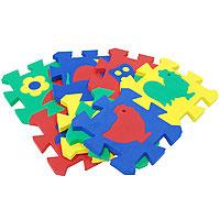 Бомик Пазл для малышей Коврик с силуэтами 8 штук403Коврик-пазл Силуэты непременно понравится вашему малышу и займет его внимание надолго. Красочный и яркий коврик станет любимой площадкой для игры вашего малыша. Коврик состоит из восьми элементов, соединяющихся между собой по принципу пазла, каждый из которых содержит в себе вынимающиеся элементы в виде цветочков и домашних птиц. Коврик смягчает падение, просто чистится и его легко хранить или перемещать. Яркие цвета и вынимающие элементы коврика способствуют развитию зрительного восприятия малыша.