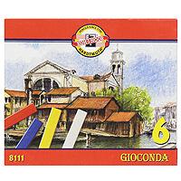 Мелки масляные Gioconda, 6 цветов8111/6Масляные мелки Gioconda подходят и профессиональным, и начинающим художникам. Цвета хорошо смешиваются и растушевываются. В наборе 6 цветных мелков: желтый, красный, синий, зеленый, коричневый и черный.