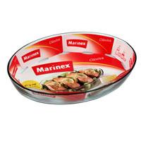 Блюдо для запекания Marinex Classica, 4 лGD16664419Овальное блюдо для запекания Marinex Classica изготовлено из жаропрочного боросиликатного стекла. Блюдо идеально подходит для использования в духовках, микроволновых печах, холодильных и морозильных камерах, посудомоечных машинах. Жаропрочное блюдо для запекания Marinex станет незаменимым помощником у вас на кухне. Характеристики: Материал: боросиликатное стекло. Объем блюда: 4 л. Размер блюда: 39,5 см х 27,5 см х 6,6 см. Изготовитель: Бразилия. Артикул: GD1.6664.41-9.