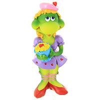 Фигурка декоративная Черепаха с букетом17134Декоративная фигурка в виде черепахи в фиолетовом платье и с ярким букетом, несомненно, вызовет улыбку и станет оригинальным украшением интерьера. Вы можете поставить фигурку в любом месте, где она будет удачно смотреться и радовать глаз. Также декоративная фигурка отлично подойдет в качестве стильного подарка близким и друзьям. Характеристики: Материал: полирезина. Высота фигурки: 14,5 см. Изготовитель: Китай. Артикул: 17134.