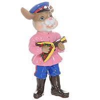 Декоративная фигурка Кролик с балалайкой. 1985219852Декоративная фигурка, выполненная в виде кролика с балалайкой, будет вас радовать и достойно украсит интерьер вашего дома или офиса. Вы можете поставить украшение в любом месте, где оно будет удачно смотреться и радовать глаз. Кроме того, эта фигурка - отличный вариант подарка для ваших близких и друзей.