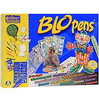 Набор для рисования Blopens Air Colouring Set0691539008119Набор для рисования Blopens Air Colouring Set привлечет внимание вашего малыша и не позволит ему скучать! С этим набором малыш сможет создавать разнообразные рисунки и узоры так, как ему подскажет фантазия. Набор состоит из восьми цветных фломастеров блопенов, одного черного фломастера, пяти трафаретов формата A4 для изготовления сложных рисунков, восьми трафаретов формата A5, шести листов с разнообразными сюжетами, десяти чистых листов формата A4 и десяти чистых листов формата A5. Фломастеры типа блопен рисуют с помощью воздуха. Ребенок дует в трубочку, заполненную краской, - и лист бумаги покрывается мелкими точечками. Поменял блопен - и к точкам одного цвета прибавляются другие! Необычный эффект получается, если распылять друг на друга различные цвета, или провести по рисунку влажной кисточкой. Если снять оба колпачка, получается обычный фломастер для рисунка тонкими линиями. Работа с воздушными фломастерами не только разовьет художественный вкус ребенка, но и укрепит...