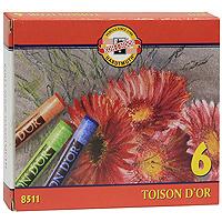 Мелки сухие Toison Dor, 6 цветов8511/6Набор ярких сухих мелков Toison Dor цилиндрической формы, легко наносятся, дают красивый выразительный цвет и не осыпаются. Идеально подходят как для начинающих, так и для профессиональных художников. В наборе 6 мелков: черный, коричневый, зеленый, синий, красный и желтый.