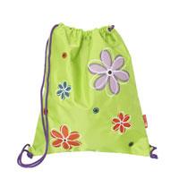 """Сумка для сменной обуви  """"Flowers """", цвет: зеленый."""