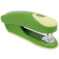 Степлер Fusion, для скоб №24/6, цвет: зеленый, желтый. IFS715GN/YLIFS715GN/YLПрактичный степлер Fusion с вертикальной загрузкой скоб в эргономичном корпусе из яркого пластика. Степлер вмещает 100 скоб и рассчитан на скрепление до 20 листов. Загибает скобы в двух направлениях. Размер скоб: №24/6. Степлер снабжен инфо-окном, позволяющим оценить количество скоб. Характеристики: Размер: 13,5 см х 6 см х 4 см. Материал: пластик, металл. Цвет: зеленый, желтый.