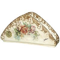 Салфетница ЭлиантоLCS996-EL-ALСалфетница Элианто, выполненная из керамики, декорирована классическим цветочным рисунком на бежевом фоне. Такая салфетница великолепно украсит праздничный стол. Характеристики: Материал: керамика. Размер салфетницы: 20,5 см х 5,5 см х 10,5 см. Размер упаковки: 13 см х 13,5 см х 19 см. Изготовитель: Италия. Артикул: LCS996-EL-AL.