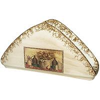 Салфетница НатюрмортLCS996V-ALСалфетница Натюрморт в бежевой цветовой гамме, изготовлена из керамики. Такая салфетница великолепно украсит праздничный стол.