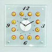 Часы настенные Яблоки, кварцевые, ф21-1211Ф21-1211Настенные кварцевые часы Яблоки своим эксклюзивным дизайном подчеркнут оригинальность интерьера вашего дома и помогут создать атмосферу домашнего уюта. Часы имеют три стрелки - часовую, минутную и секундную. Часы выполнены из друх слоев прозрачного стекла, соединенного металлическими элементами. Такие часы послужат отличным подарком для каждого.