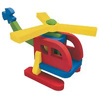 Бомик Мягкий конструктор Вертолет354Мягкий объемный конструктор Вертолет привлечет внимание малыша и не позволит ему скучать. Элементы конструктора выполнены из мягкого, эластичного, прочного материала, который обеспечивает большую долговечность и является абсолютно безопасным для детей. Мягкий конструктор разовьет у ребенка память, воображение, моторику, пространственное и логическое мышление. Порадуйте его таким замечательным подарком!