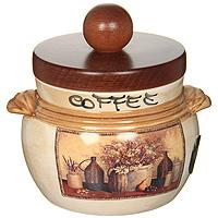 Банка для продуктов LCS Натюрморт Coffee 0,5 л LCS670PLCV-ALLCS670PLCV-ALБанка для сыпучих продуктов LCS Натюрморт с надписью Coffee изготовлена из высококачественной керамики. Рисунок-натюрморт на бежевом фоне выглядит особенно привлекательно. Крышка выполнена из натурального дерева и снабжена резиновым кольцом-уплотнителем для лучшей фиксации.