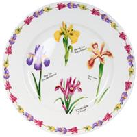 Тарелка керамическая Ирисы, диаметр 27 смIMA0180H-A93ALКерамическая тарелка Ирисы станет достойным украшением вашего интерьера. Тарелка оформлена изображением цветков ириса. Тарелка - наиболее распространенный вид столовой посуды, именно ею мы чаще всего пользуемся во время приема пищи. Оригинальный рисунок поднимет настроение вам и вашим близким. Характеристики: Материал: керамика. Диаметр тарелки: 27 см. Производитель: Китай. Размер упаковки: 27,5 см х 27 см х 3 см. Артикул: IMA0180H-A93AL. Изделия торговой марки Imari произведены из высококачественной керамики, основным ингредиентом которой является твердый доломит, поэтому все керамические изделия Imari - легкие, белоснежные, прочные и устойчивы к высоким температурам. Высокое качество изделий достигается не только благодаря использованию особого сырья и новейших технологий и оборудования при изготовлении посуды, но также благодаря строгому контролю на всех этапах производственного процесса. Нанесение сверкающей глазури, не...