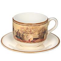 Чайная пара Натюрморт, 2 предметаLCS933/T/PV-ALЧайная пара Натюрморт изготовлена из высококачественной керамики. Рисунок-натюрморт на бежевом фоне выглядит особенно привлекательно. Набор состоит из чашки и блюдца. Чайная пара Натюрморт станет отличным подарком на любой праздник.