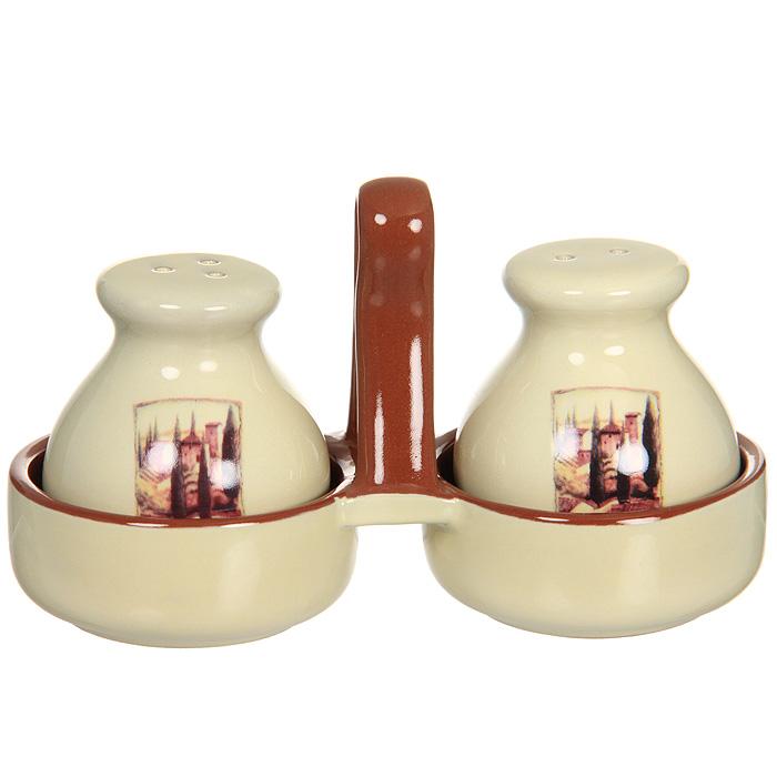 Набор для специй Terracotta Итальянская деревня на подставке, 3 предмета TLY011-V-ALTLY011-V-ALНабор Итальянская деревня состоит из перечницы, солонки и подставки для них. Благодаря своим небольшим размерам набор не займет много места на вашей кухне. Емкости и подставка изготовлены из жаропрочной керамики и покрыты высококачественной глазурью. Очень удобно, когда во время приготовления пищи приправы под рукой! Набор Итальянская деревня станет отличным подарком каждой хозяйке.