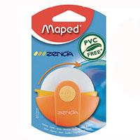 Ластик Maped Zenoa, цвет: оранжевый011320Оригинальный ластик Zenoa в поворотном защитном футляре из пластика. Легко удаляет следы чернографитных карандашей, а футляр защищает ластик от загрязнений и увеличивает его срок службы. Не содержит ПВХ.