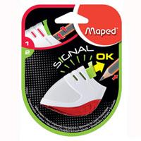 Точилка Maped Signal, цвет: белый, красный0040017Точилка Signal первая в мире точилка, сигнализирующая о том, что карандаш заточен! Для заточки: нажмите на кнопку, заточите карандаш, как только грифель станет достаточно острым, кнопка автоматически поднимется вверх.