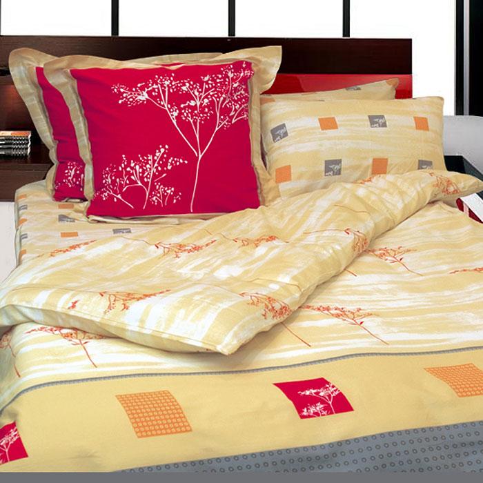 Комплект белья Дюна (2-х спальный КПБ, сатин, 4 наволочки 50х70, 70х70)Т-0750-01_2-спальныйКомплект постельного белья Дюна, изготовленный из сатина, поможет вам расслабиться и подарит спокойный сон. Постельное белье имеет изысканный внешний вид и обладает яркостью и сочностью цвета. Комплект состоит из пододеяльника, простыни и четырех наволочек. Все предметы комплекта цельнокроеные. Благодаря такому комплекту постельного белья вы сможете создать атмосферу уюта и комфорта в вашей спальне. Сатин производится из высших сортов хлопка, а своим блеском, легкостью и на ощупь напоминает шелк. Такая ткань рассчитана на 200 стирок и более. Постельное белье из сатина превращает жаркие летние ночи в прохладные и освежающие, а холодные зимние - в теплые и согревающие. Благодаря натуральному хлопку, комплект постельного белья из сатина приобретает способность пропускать воздух, давая возможность телу дышать. Одно из преимуществ материала в том, что он практически не мнется и ваша спальня всегда будет аккуратной и нарядной. Страна: Россия. Материал: сатин...