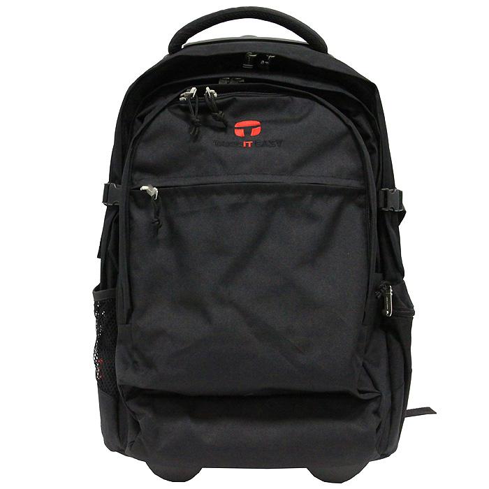 "Рюкзак-чемодан  ""Бейсик "", на колесах, цвет: черный Take It Easy."