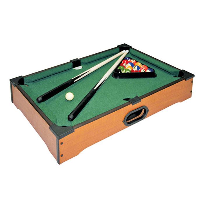 Игра настольная Русские Подарки Бильярд, размер: 51*31 см. 4240242402Настольный бильярд - это увлекательная и полезная игра, которая развивает глазомер, вырабатывает четкость и координацию движений. Играть в настольный бильярд могут все. Эта игра поможет весело провести время и разнообразит ваш досуг. Успех игрока зависит от терпения, меткости, умения рассчитывать силу, ловкости и координации движений. В набор входят игровой стол, 16 шаров, два кия, треугольник и мел. Такая игра станет прекрасным подарком для любителей бильярда.