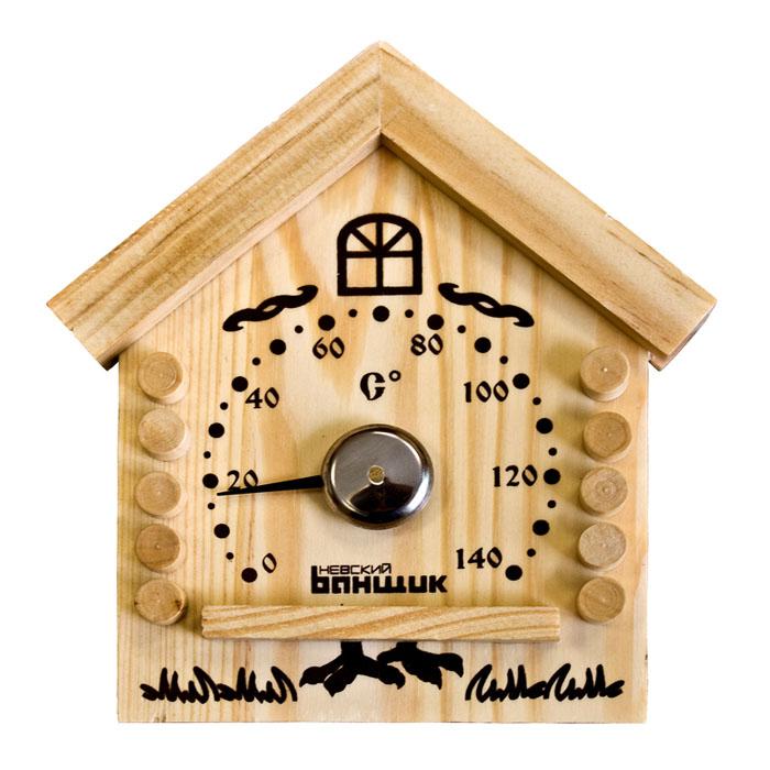 Термометр для бани и сауны ИзбушкаБ1153Термометр (градусник) биметаллический (механический) является необходимым аксессуаром для измерения температуры в бане или сауне до 140 С. Внешний вид дополнит интерьер Вашей бани или сауны. Характеристики: Производитель: Россия. Артикул: Б1153.