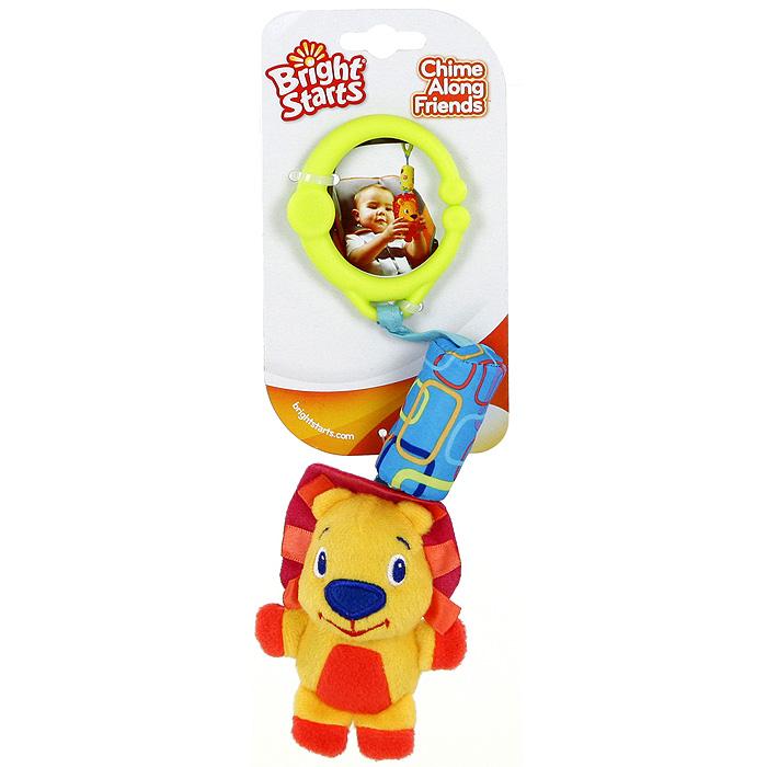 Bright Starts развивающая игрушка Звонкий дружок-львенок8487-1Развивающая игрушка Звонкий дружок-львенок понравится вашему ребенку и станет для него любимой игрушкой. Интересная мягкая игрушка выполнена в виде милого львенка на звенящей подвеске с ручкой салатового цвета. Ручка - раздвижная, поэтому игрушку можно прикрепить к кроватке, коляске, стульчику или в любое другое удобное место. Развивающая игрушка Звонкий дружок-львенок способствует развитию цветовосприятия и звуковосприятия. Характеристики: Рекомендуемый возраст: от 0 месяцев. Размер львенка: 11 см х 7 см х 3,5 см. Материал: пластик, текстиль. Изготовитель: Китай