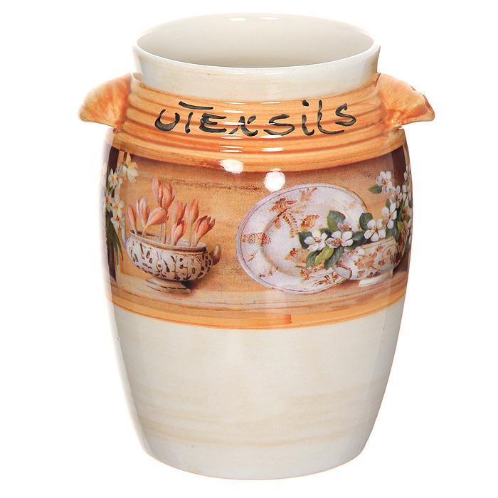 Подставка под кухонные инструменты КантриLCS676MESPR-ALПодставка под кухонные предметы Кантри изготовлена из высококачественной керамики. Такая подставка непременно вам пригодится на кухне.