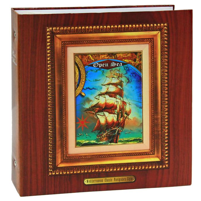Фотоальбом Open Sea, 500 фотографий, 10 см x 15 см, цвет: коричневыйAV46500 3-O_ open seaФотоальбом позволит вам запечатлеть незабываемые моменты своей жизни, сохранить свои истории и воспоминания на его страницах. Фотоальбом на металлических кольцах Open Sea рассчитан на 500 фотографий форматом 10 см х 15 см. На каждой странице размещаются пять фотографии, которые вставляются в кармашки из прозрачной пленки. Обложка альбома коричневого цвета оформлена изображением картины корабля в открытом море. Характеристики: Материал: картон, полипропилен, металл. Размер фотоальбома: 33 см х 34,5 см х 6 см. Размер фотографии: 10 см х 15 см. Изготовитель: Китай.
