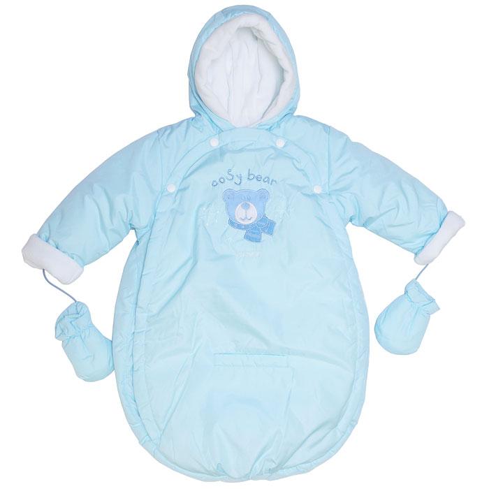 """Теплый конверт в коляску  """"Cosy Bear """" с рукавами и капюшоном, защитит..."""