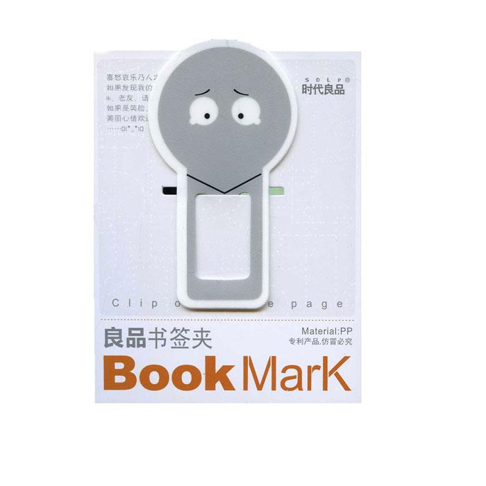 Закладка для книг Смайл, цвет: серый0602009Оригинальная закладка для книги Смайл - великолепный подарок для тех, кто не мыслит свою жизнь без книг. Закладка выполнена в виде забавного смайлика. Такая закладка подарит хорошее настроение своему обладателю.