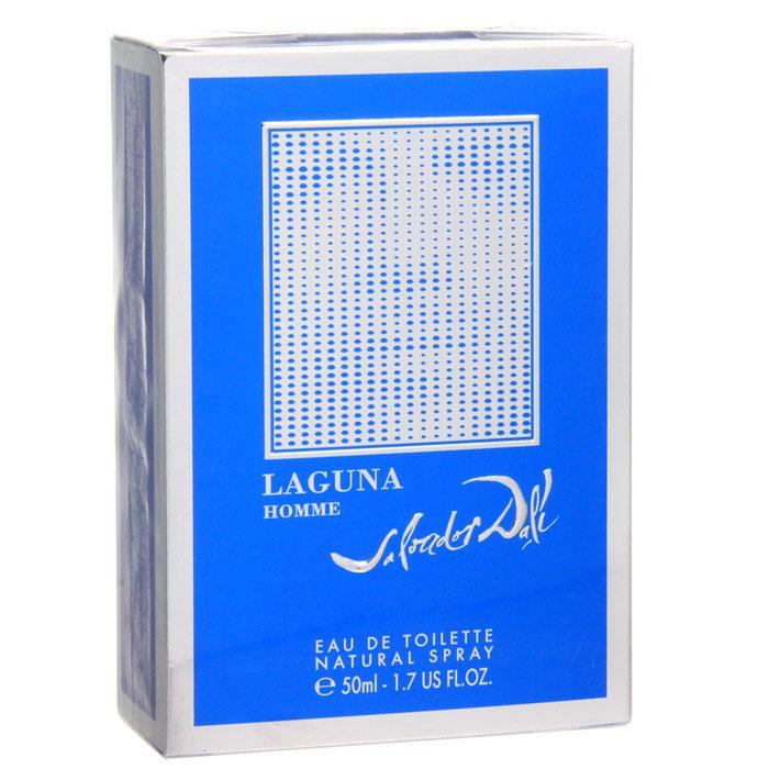 Salvador Dali Laguna Homme. Туалетная вода, 50 мл640402Теплое синее море, яркое полуденное солнце, теплый песок и кокосовые пальмы. Лагуна заключена в объятья райских островов, где царят мир и гармония. Она то прозрачно-голубая, то изумрудно-зеленая, сверкающая под лучами солнца, меняет свой цвет в зависимости от цвета неба. Аромат Laguna Homme в полной мере отражает эту картину. Верхние ноты аромата - нежная композиция из искрящихся цитрусовых нот мандарина, лайма и бергамота. Белый жасмин в сочетании с душистым медом удивительно гармонируют с древесными нотами кедра и сандала. В шлейфе аромата раскрываются мускатный шалфей, бобы тонка и нота ванили. Классификация аромата: древесный. Пирамида аромата: Верхние ноты: мандарин, лайм, бергамот. Ноты сердца: сандал, кедр, табак, жасмин. Ноты шлейфа: шалфей, бобы тонка, ваниль. Ключевые слова: Гармоничный, нежный, прозрачный, тонкий!
