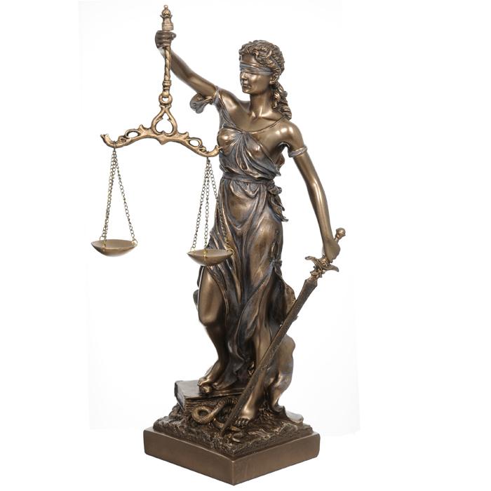 Статуэтка Фемида, 31 смVWU71832A4ALСтатуэтка Фемида станет оригинальным подарком для всех любителей стильных вещей и служителям закона. Статуэтка выполнена в виде богини правосудия - с повязкой на глазах, символом беспристрастия, весами в руках - символом правосудия и мечом - символом воздаяния. Изысканный сувенир станет прекрасным дополнением к интерьеру. Нижняя часть подставки защищена мягкой тканью, что позволит избежать появления царапин на мебели.