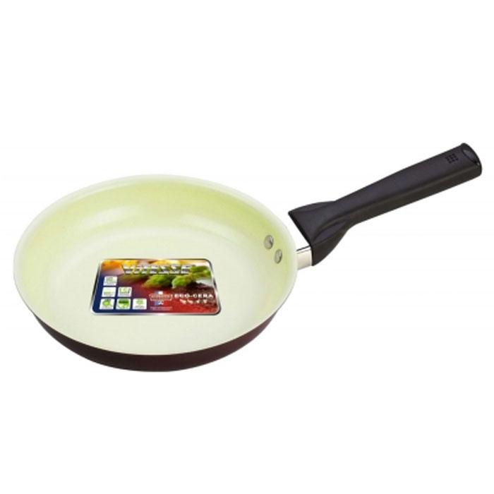 Сковорода Vitesse. Диаметр 20 см. VS-2214VS-2214Сковорода Vitesse станет незаменимым помощником на кухне. Особенности: Сковорода изготовлена из высококачественного алюминия, толщина - 2,5 мм. Внешнее элегантное цветное покрытие, подвергшееся высокотемпературной обработке. Бакелитовая, высокопрочная, огнестойкая, не нагревающаяся ручка удобной формы на заклепках. Внутреннее керамическое покрытие. Быстрый нагрев и равномерное распределение тепла по всей поверхности. Стойкое керамическое покрытие позволяет готовить при температуре до 450 градусов. Можно использовать металлическую лопатку. Пригодна для мытья в посудомоечной машине. Подходит для всех видов варочных панелей. Характеристики: Материал: алюминий. Диаметр: 20 см. Высота стенок: 4,5 см. Артикул: VS-2214.
