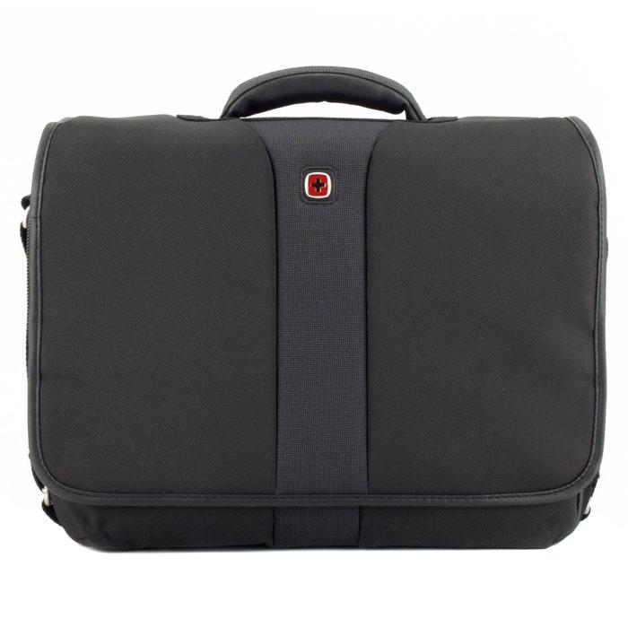 "Сумка Wenger  ""Flight "" для ноутбука, цвет: черный, серый WENGER."