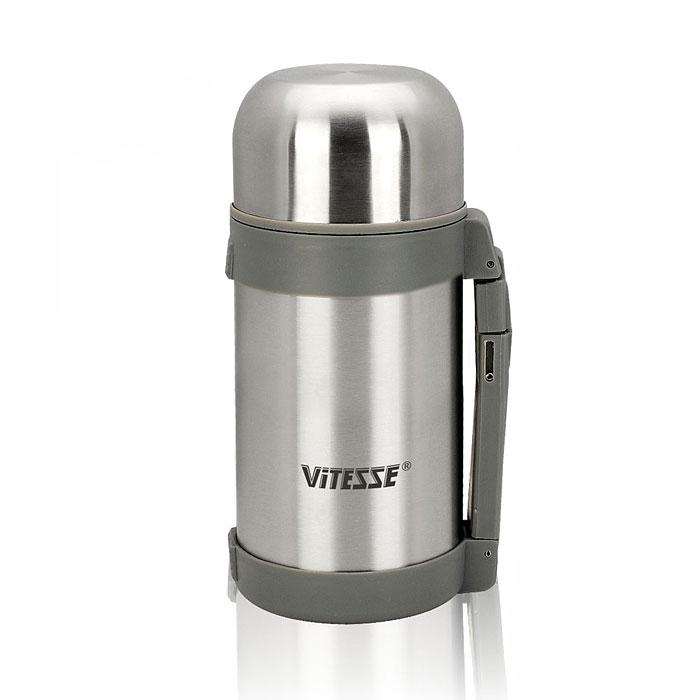 Термос Vitesse, 1,2 л. VS-8307VS-8307Термос Vitesse выполнен из высококачественной нержавеющей стали 18/10 с матовой полировкой. Термос имеет вакуумную изоляцию, которая на сегодняшний день является самым эффективным способом сохранения напитков как горячими, так и холодными. Вы сможете приготовить чай и кофе непосредственно в термосе. Термос надежно закрывается крышкой-чашкой. В комплект входит дополнительная пластиковая чашка. Также термос имеет складную пластиковую ручку и текстильный ремень для удобной переноски. Легкий и удобный он станет незаменимым спутником в ваших поездках. Термос можно мыть в посудомоечной машине.