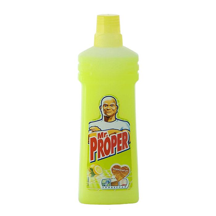 """Моющая жидкость для полов и стен """"Mr. Proper"""", с ароматом лимона, 750 мл ( MP-81505775 )"""