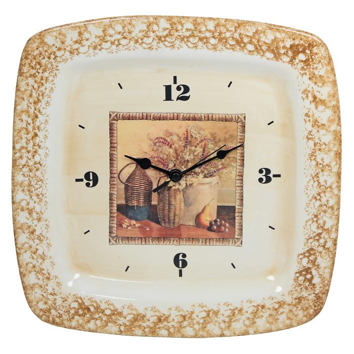 Настенные часы НатюрмортLCS995/OR32V-ALНастенные часы Натюрморт своим эксклюзивным дизайном подчеркнут оригинальность интерьера вашего дома. Часы выполнены из керамики. Циферблат оформлен натюрмортом. Часы имеют три стрелки - часовую, минутную и секундную. Циферблат часов не защищен стеклом. Такие часы послужат отличным подарком для каждого.