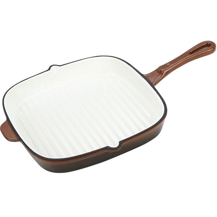 Сковорода чугунная Vitesse, 26 х 26 смVS-2309Сковорода Vitesse, изготовленная из чугуна с антикоррозионным покрытием, станет незаменимым помощником на вашей кухне. Высокая теплоемкость чугуна позволяет ему сильно нагреваться и медленно остывать, а это в свою очередь обеспечивает равномерное приготовление продуктов. Пища, приготовленная в чугунной посуде, сохраняет свои вкусовые качества, и благодаря экологической чистоте материала, не может нанести вред здоровью человека. Сковорода имеет внутреннюю эмалированную рифленую поверхность, которая имитирует решетки гриля и образует аппетитную корочку, при этом жир стекает в желобки, не давая продуктам контактировать с ним. Сковорода обладает высокой прочностью и износоустойчивостью. По краям сковороды есть два носика для слива лишней жидкости и масла. Ручка имеют удобную форму. В комплект также входит прихватка-рукавица. Чугунная сковорода Vitesse подходит для использования на всех типах кухонных плит. Изделие можно мыть в посудомоечной машине. Характеристики:...