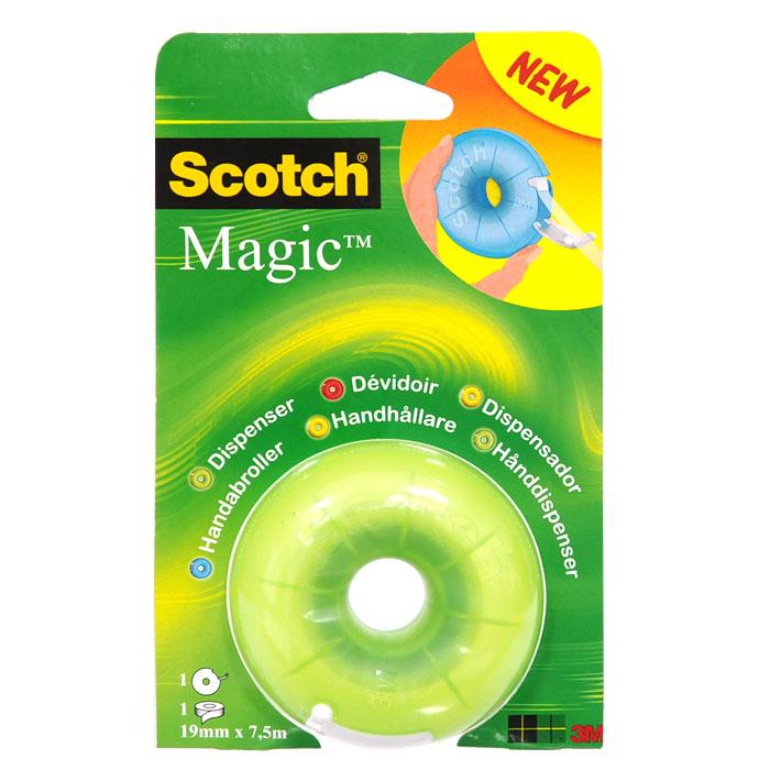 Диспенсер для клейкой ленты Scotch, цвет: салатовый600 3MВашему вниманию предлагается яркий, веселый и компактный диспенсер с лентой Scotch Magic внутри. Он герметично закрывается, защищая клейкую ленту, поэтому его очень удобно носить с собой. Подходит для клейкой ленты шириной до 19 мм и длиной до 33 м. Характеристики: Материал: пластик. Размер диспенсера: 7 см х 7 см х 3,5 см. Цвет: салатовый. Изготовитель: Китай.