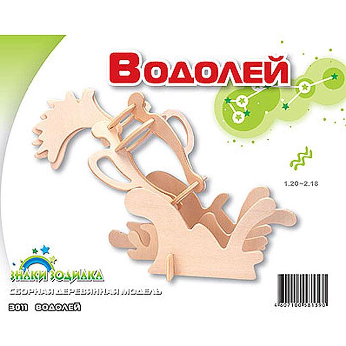 Сборная деревянная модель ВодолейЗ011Сборная деревянная модель Водолей позволит вам и вашему ребенку собрать объемную деревянную конструкцию в виде знака зодиака Водолея. Модель для сборки развивает мелкую моторику, интеллектуальные способности, воображение и конструктивное мышление, тренирует терпение и усидчивость. Модель выполнена из экологически чистой древесины.