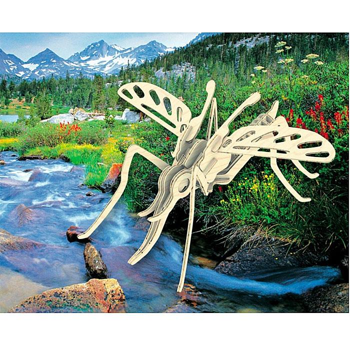 Сборная деревянная модель МоскитЕ020Сборная деревянная модель Москит позволит вам и вашему ребенку собрать объемную деревянную конструкцию в виде москита. Модель для сборки развивает мелкую моторику, интеллектуальные способности, воображение и конструктивное мышление, тренирует терпение и усидчивость. Модель выполнена из экологически чистой древесины.