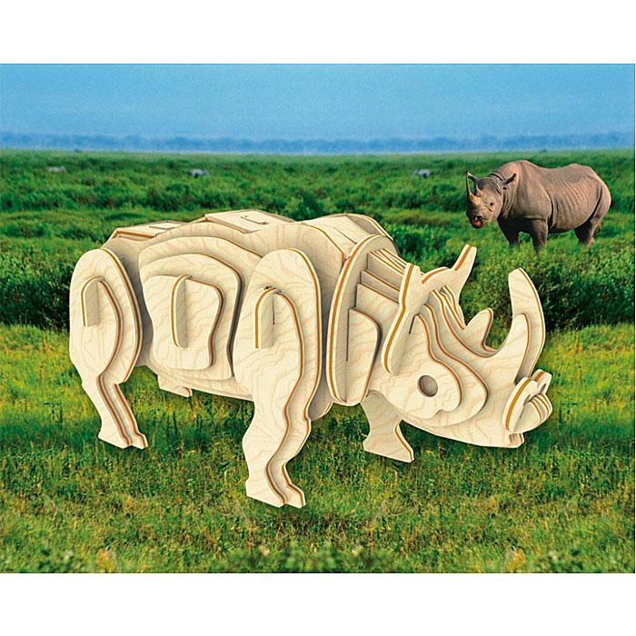 Сборная деревянная модель НосорогМ018Сборная деревянная модель Носорог позволит вам и вашему ребенку собрать объемную деревянную конструкцию в виде носорога. Модель для сборки развивает мелкую моторику, интеллектуальные способности, воображение и конструктивное мышление, тренирует терпение и усидчивость. Модель выполнена из экологически чистой древесины.