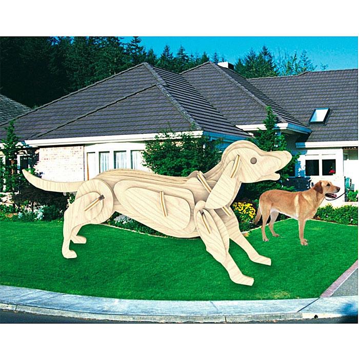 Сборная деревянная модель СобакаМ011Сборная деревянная модель Собака позволит вам и вашему ребенку собрать объемную деревянную конструкцию в виде собаки. Модель для сборки развивает мелкую моторику, интеллектуальные способности, воображение и конструктивное мышление, тренирует терпение и усидчивость. Модель выполнена из экологически чистой древесины.