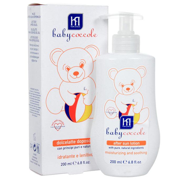 Babycoccole Молочко The Summer после загара, 200 мл4260Мягкое и легкое молочко Babycoccole The Summer после загара нежно заботится о детской кожи. Увлажняет и смягчает, благодаря чистым натуральным компонентам, таким как бисабол ромашки и протеины миндаля. Имеет увлажняющий и успокаивающий эффект. Гипоаллергенно, обладает физиологическим уровнем рН.