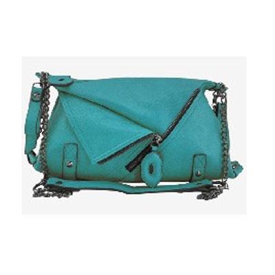 """Женская сумка  """"Grizzly """" выполнена из кожзаменителя голубого цвета."""