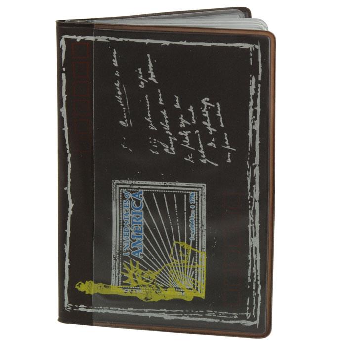 Кредитница Путешествия. Америка0605012Стильная кредитница Путешествия. Америка рассчитана на 8 карточек. Файлы из мягкого прозрачного пластика бережно сохранят ваши визитки и кредитные карты в одном месте. Обложка оформлена оригинальным изображением, стилизованным под почтовый конверт. Характеристики: Размер кредитницы: 10,2 см х 7 см х 1 см. Материал: ПВХ, пластик. Изготовитель: Китай. Артикул: SD-7211.